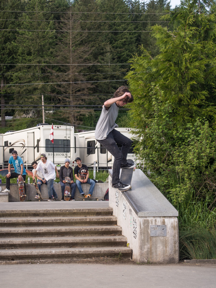 Jesse's frontside nosegrind was ALL DAY.