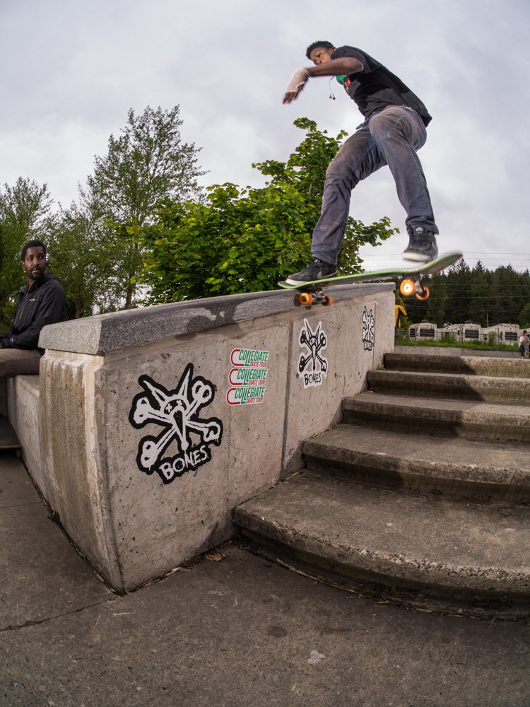 Lil' Boozie's frontside tailslide is sick!