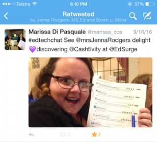 Mrs Jenna Rodgers is delighted to discover Cashtivity at EdSurge