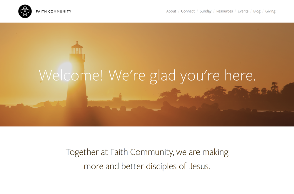 "Faith Community Santa Cruz / Design - <a href=""www.ZachMcNair.com"" target=""_blank"">Zach McNair</a>, Dev - Watertree"
