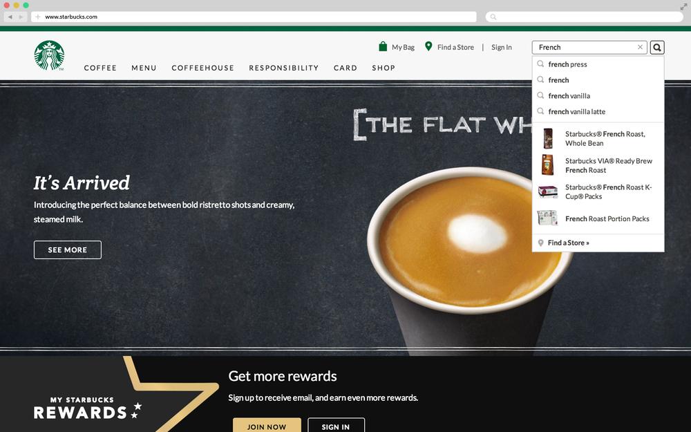 Starbucks_search type ahead