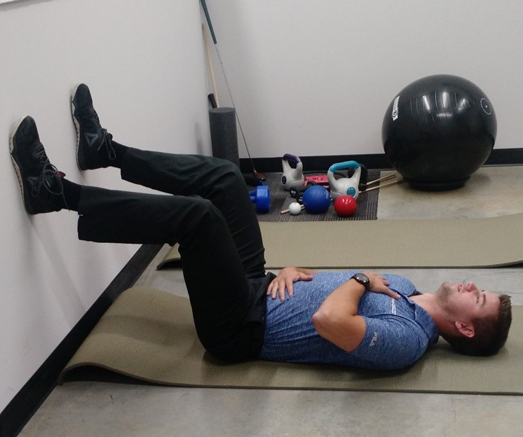 This is a drill to see if you are a chest breather or breathing into the belly. It can also be used as a training tool to start breathing deep into the belly.