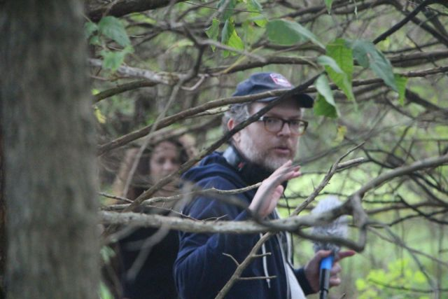 "Jonathan Mitchell on location and shooting a scene for ""Silvia's Blood."""