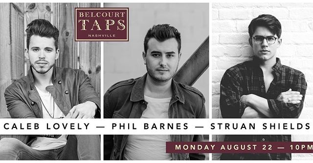@belcourttaps tonight with some homies. Y'all come hang out! 10pm #nashvillemusic  @philbarnesmusic @struanshields