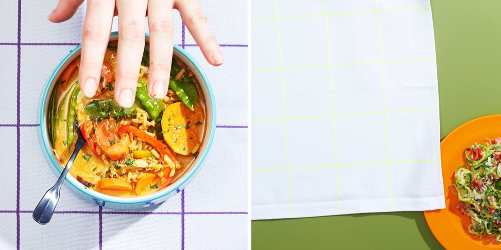 Jen Beauschane styling thai soup. Chloe Daley decides on a background.