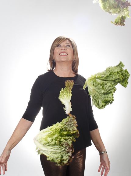 Julia Marshall, Cookbook Author, sharing her SALAD JOY