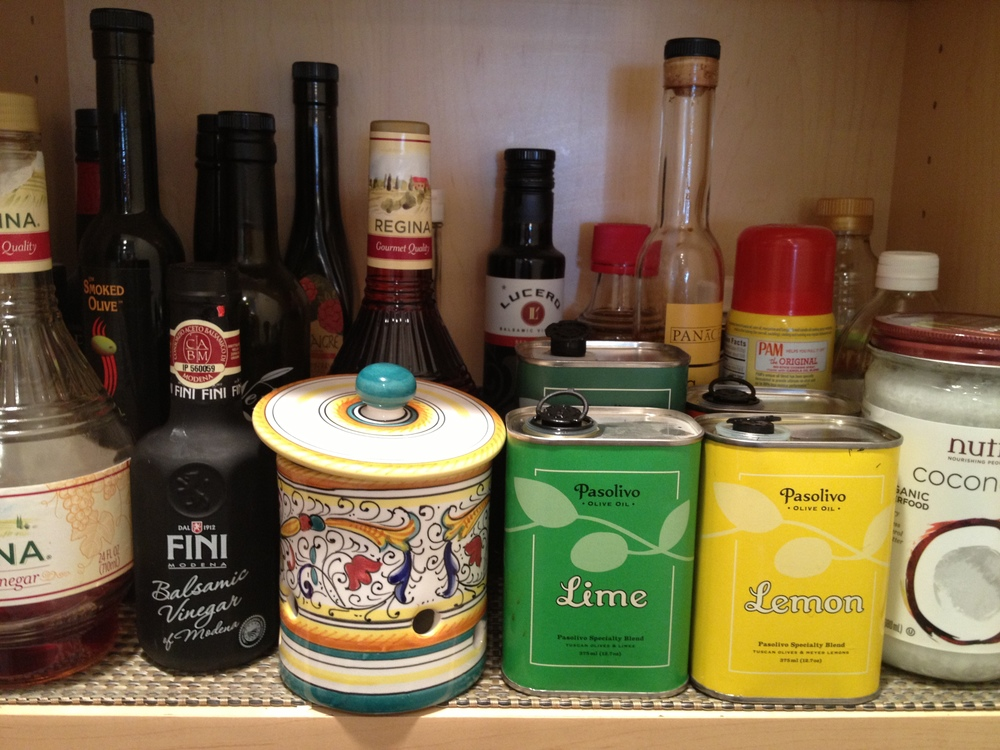 My favorite olive oils from Pasolivo are front and center
