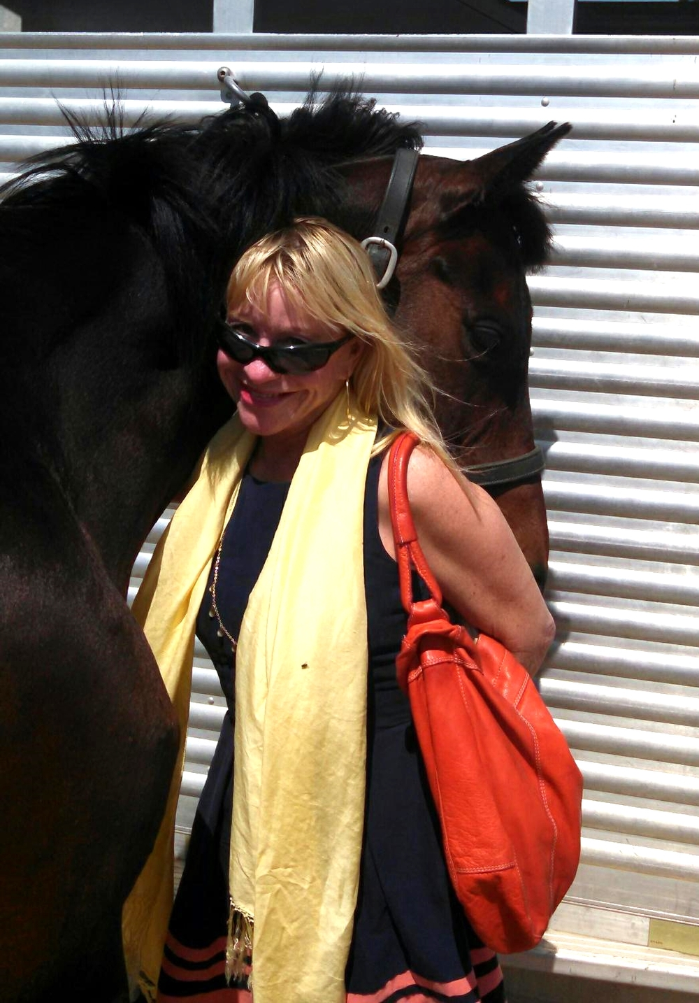 With my horse-loving friend Nancy