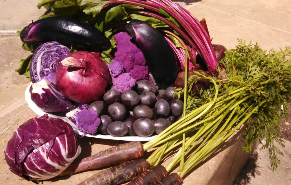 colorful veggies -- a change from their traditional counterparts