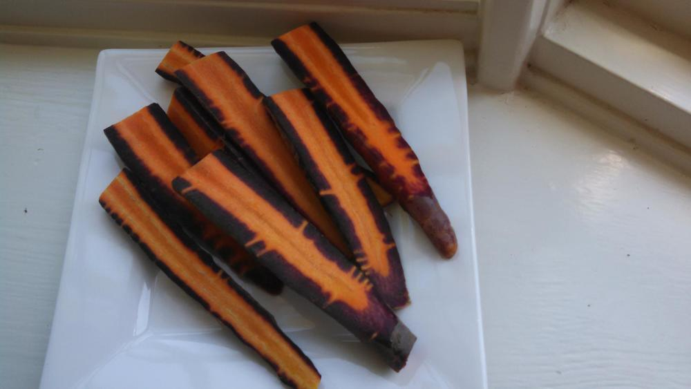 yes, these are purple carrots!