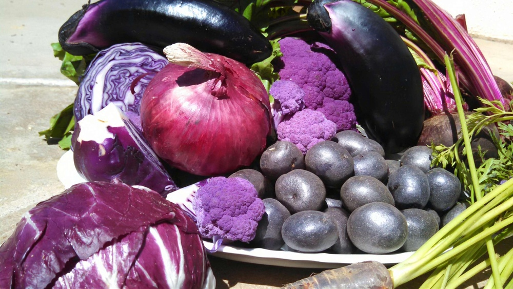The purple color comes from anthocyanins, which are loaded with health benefits