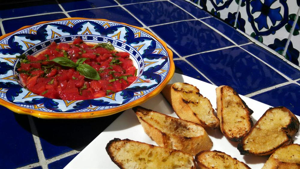 Classic Bruchetta is a perfect way to use fresh tomatoes