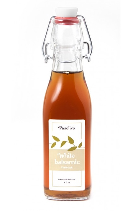 Pasolivo white balsamic vinegar is perfect in this dressing