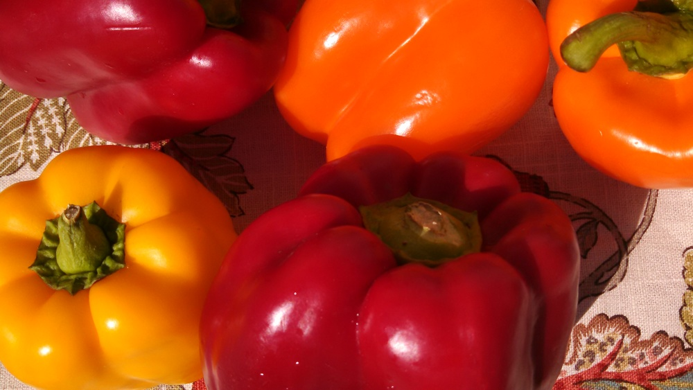 A cup of red bell pepper contains about three times more vitamin C than an orange
