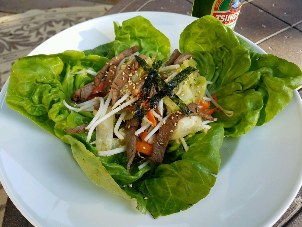 Cold Beef Salad is great with a cold Thai beer or Thai iced tea on a warm summer evening