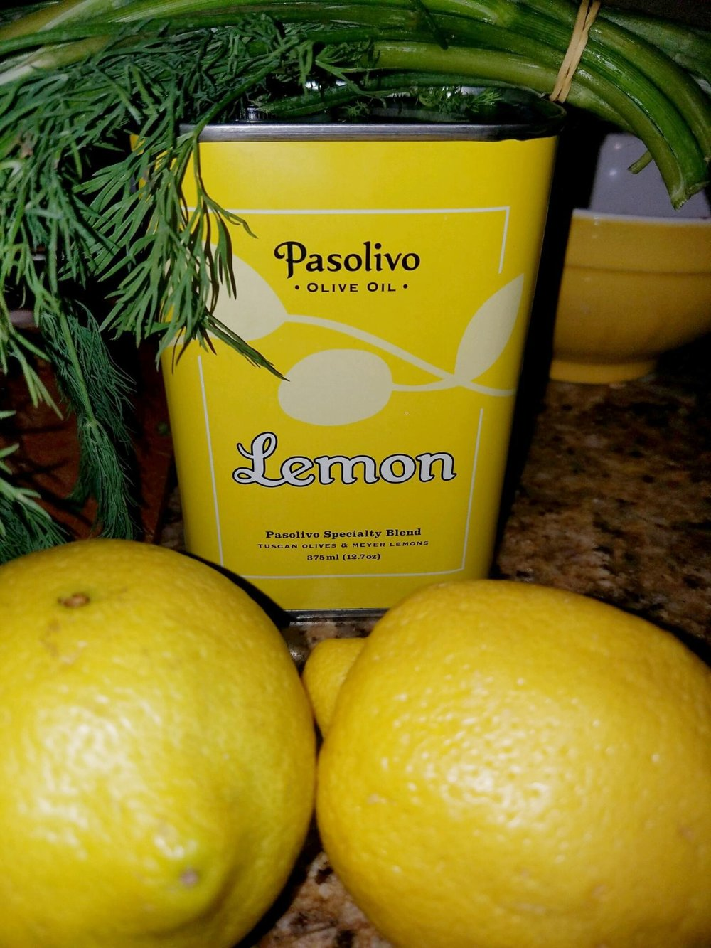 Lemon olive oil isn't necessary -- but it is delicious, especially when it's from  Pasolivo !