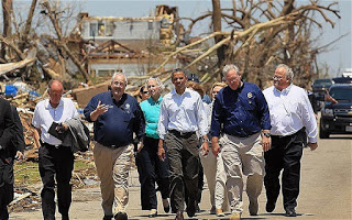 PRESIDENT OBAMA VISITING JOPLIN, MISSOURI