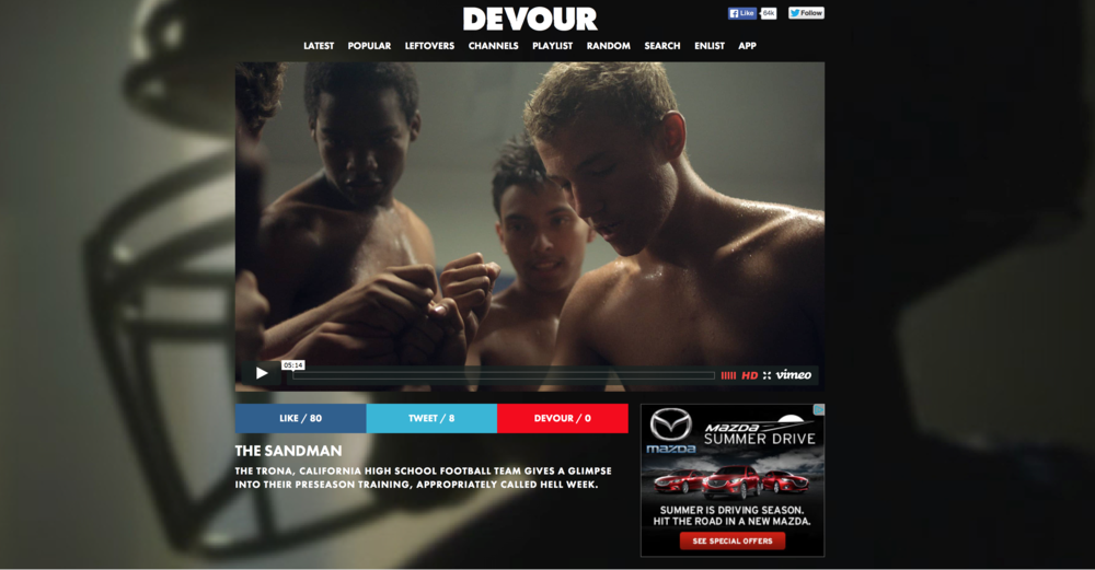Featured on Devour.com (August 2015)