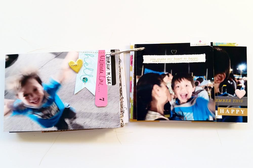 Studio Calico Mini Album Pages 11 and 12
