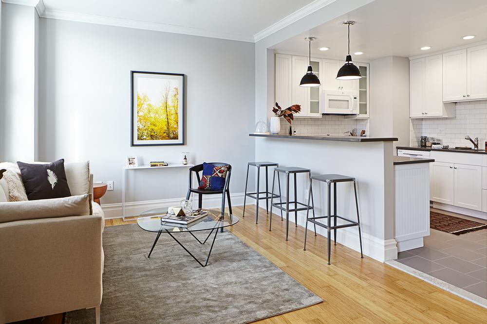 Touraine Unit Living Room & Kitchen