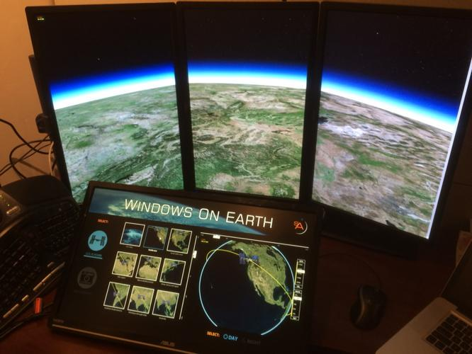 Windows on Earth: Museum of Flight exhibit using angular-cesiumjs