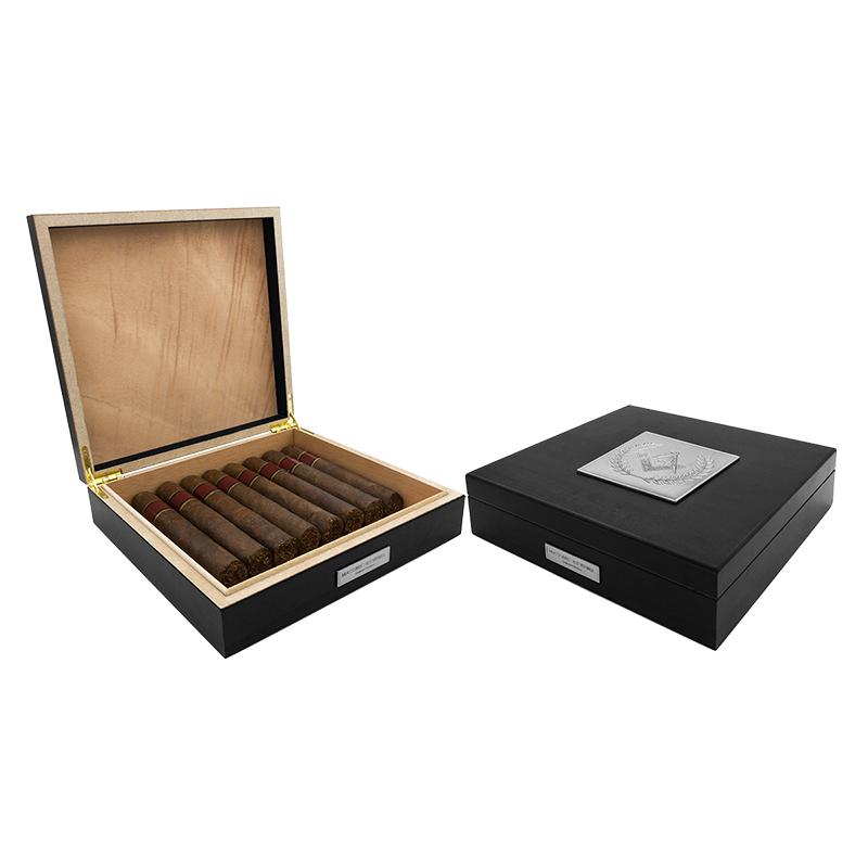 masonic humidor 20 cigar black - Cigar Humidors