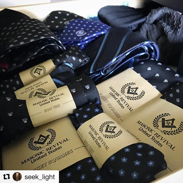 That's a true @masonicrevival man right there! #Repost @seek_light ・・・ Placing my order, I'm going to need a bigger drawer. I have to say I have wore many ties over the years and Bro Edgar  makes the highest quality ties you'll ever own. What is your favorite tie by @masonicrevival