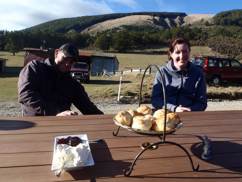 Scones and grins!