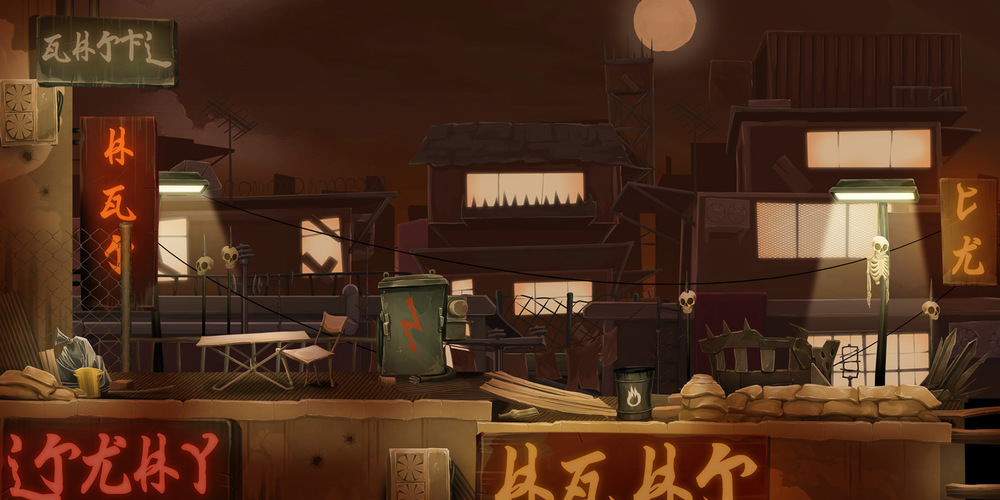 A mockup of the Rooftops Scenes