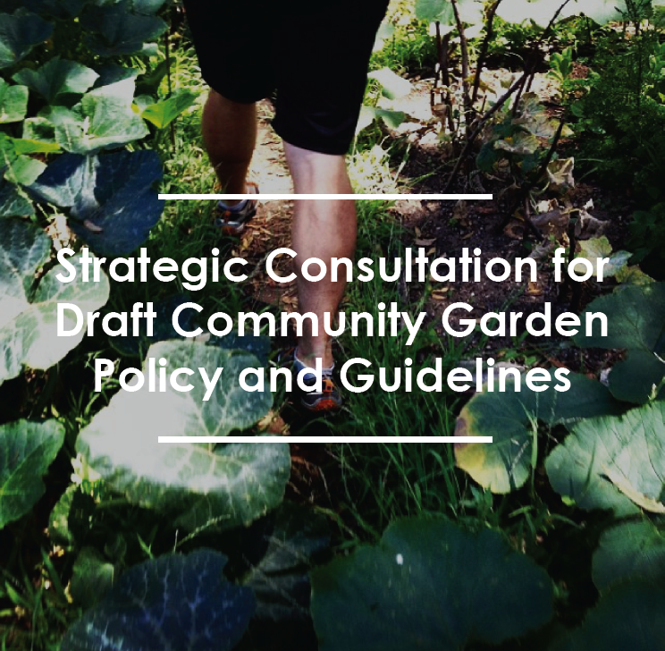STRATEGIC CONSULTATION FOR DRAFT COMMUNITY GARDEN  POLICY AND GUIDELINES  City of Sydney   Cred and  JOC Consulting  worked together to deliver strategic consultation on the  ...more