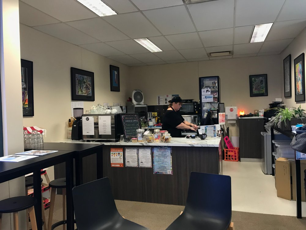 The social enterprise cafe is run by a service housed in the hub, and provides training and employment for people with intellectual disability.