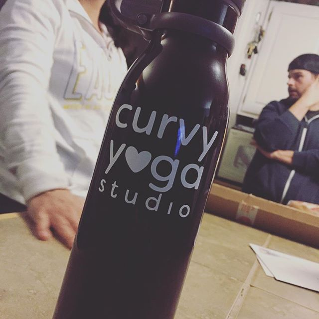 Aaahhhhh! My dad put some bling on my water bottle from @wholefully! I LOVE IT! @curvyyoga #curvyyogastudio