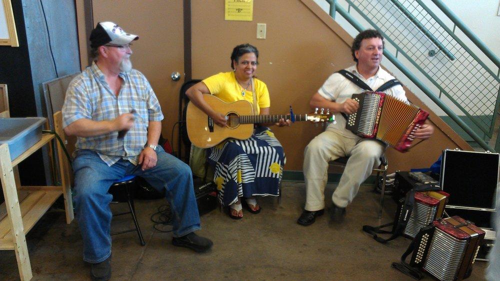 Bernie, Shirley & Norm Strathcona Farmers Market 2012.jpg