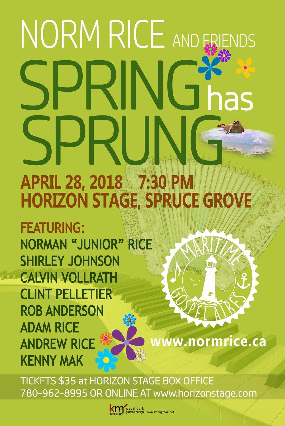 Spring has Sprung Calvin Vollrath, Clint Pellertier