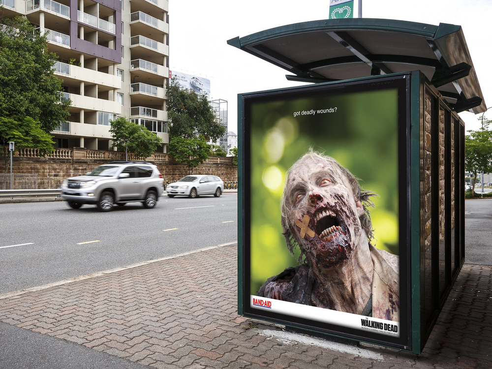 """Walking Dead/Johnson & Johnson"" Co-Branding Campaign"
