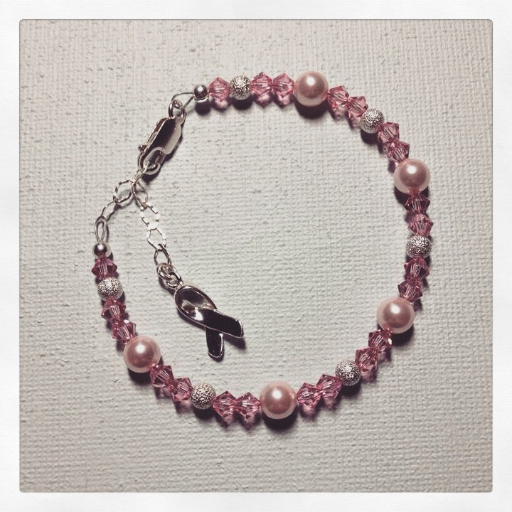 Breast Cancer Awareness Bracelet...a pair of these were made for sisters.