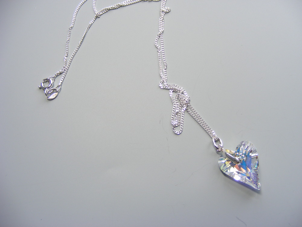 My swarovski crystal and sterling silver necklace.