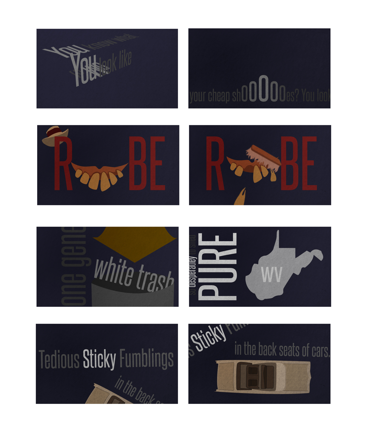 Finished design board for my kinetic typography project. I am using Hannibal Lector's monologue as audio for this design. Check out the on going process of this project on my Behance