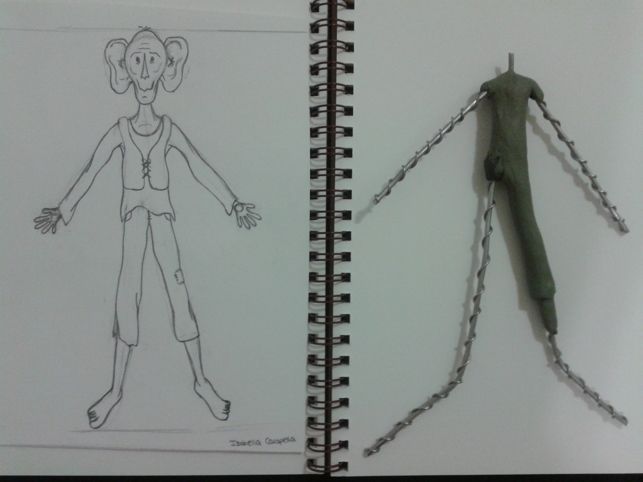 """Starting our puppets in my Stop Motion I class. I decided to do the Big Friendly Giant. The fictional character from the book """"The BFG"""" by Ronald Daul"""