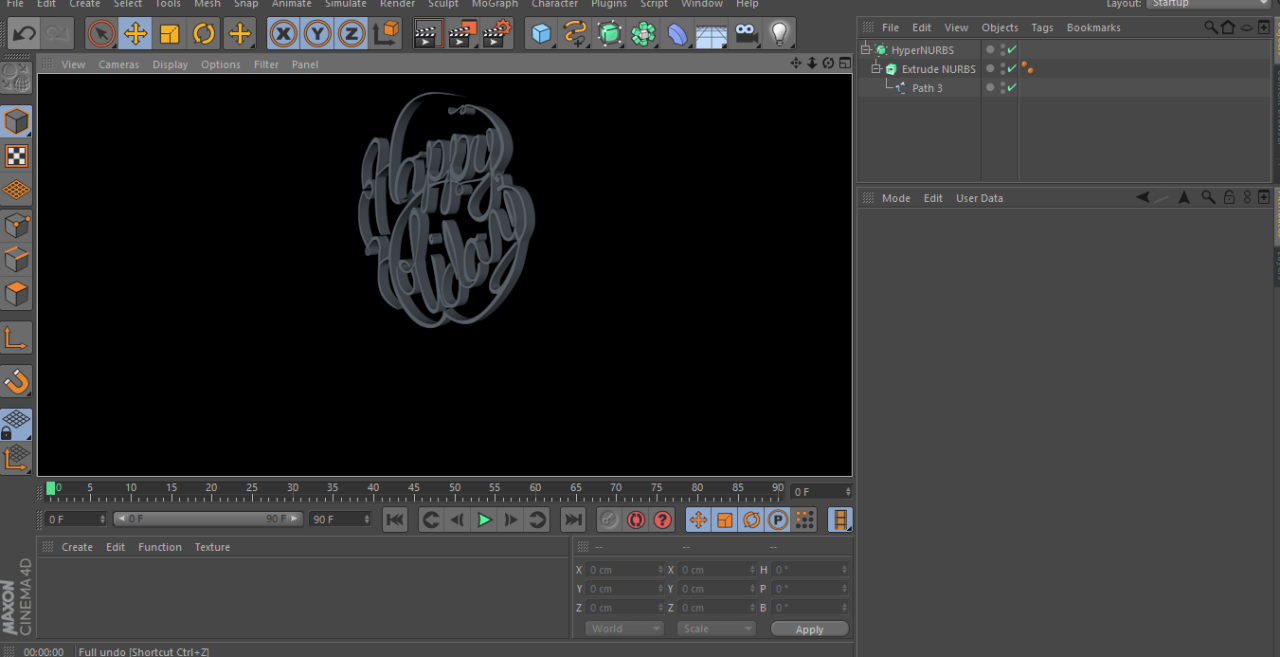 Learning Cinema 4D!