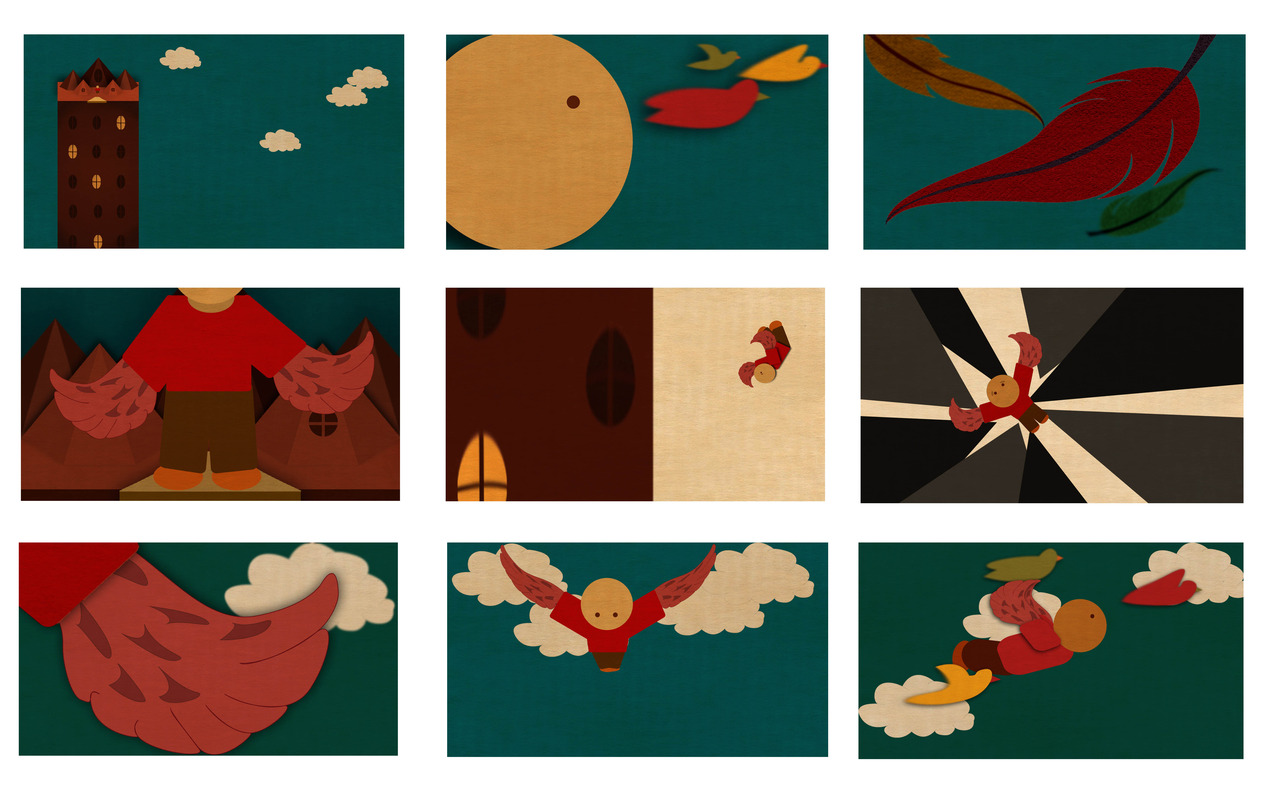 Finished design board! Working on the set and then off to animating