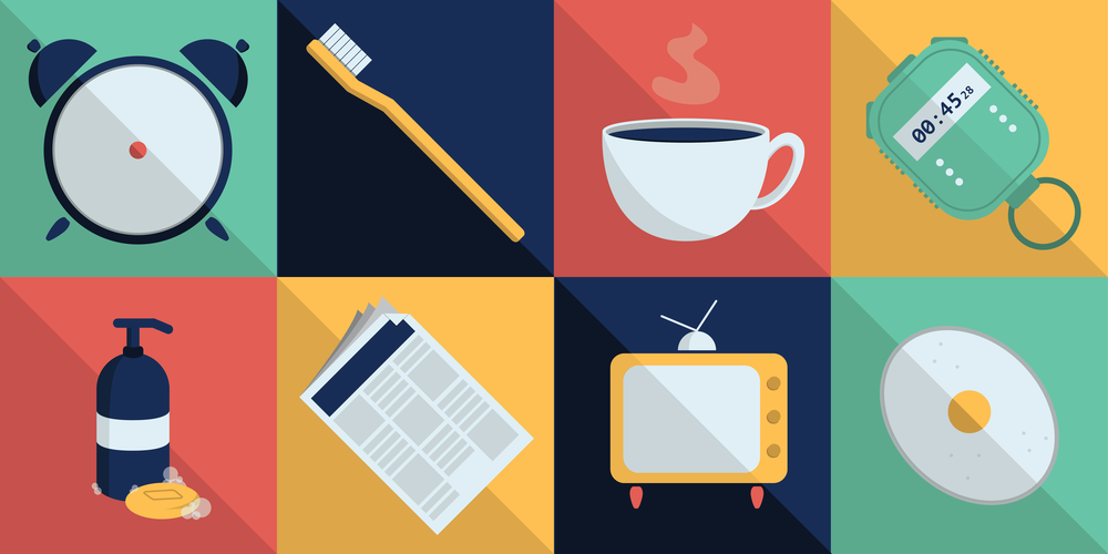 A little illustration used in an ongoing series that looks into different morning routines. You can see the full article here.
