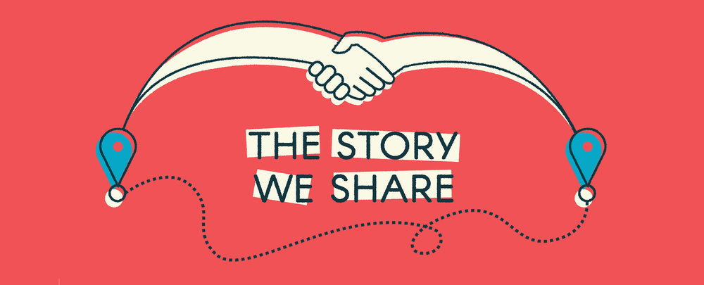 """The final feature art graphic used for """"The Story We Share"""" series at HuffPost. You can see the whole series here."""