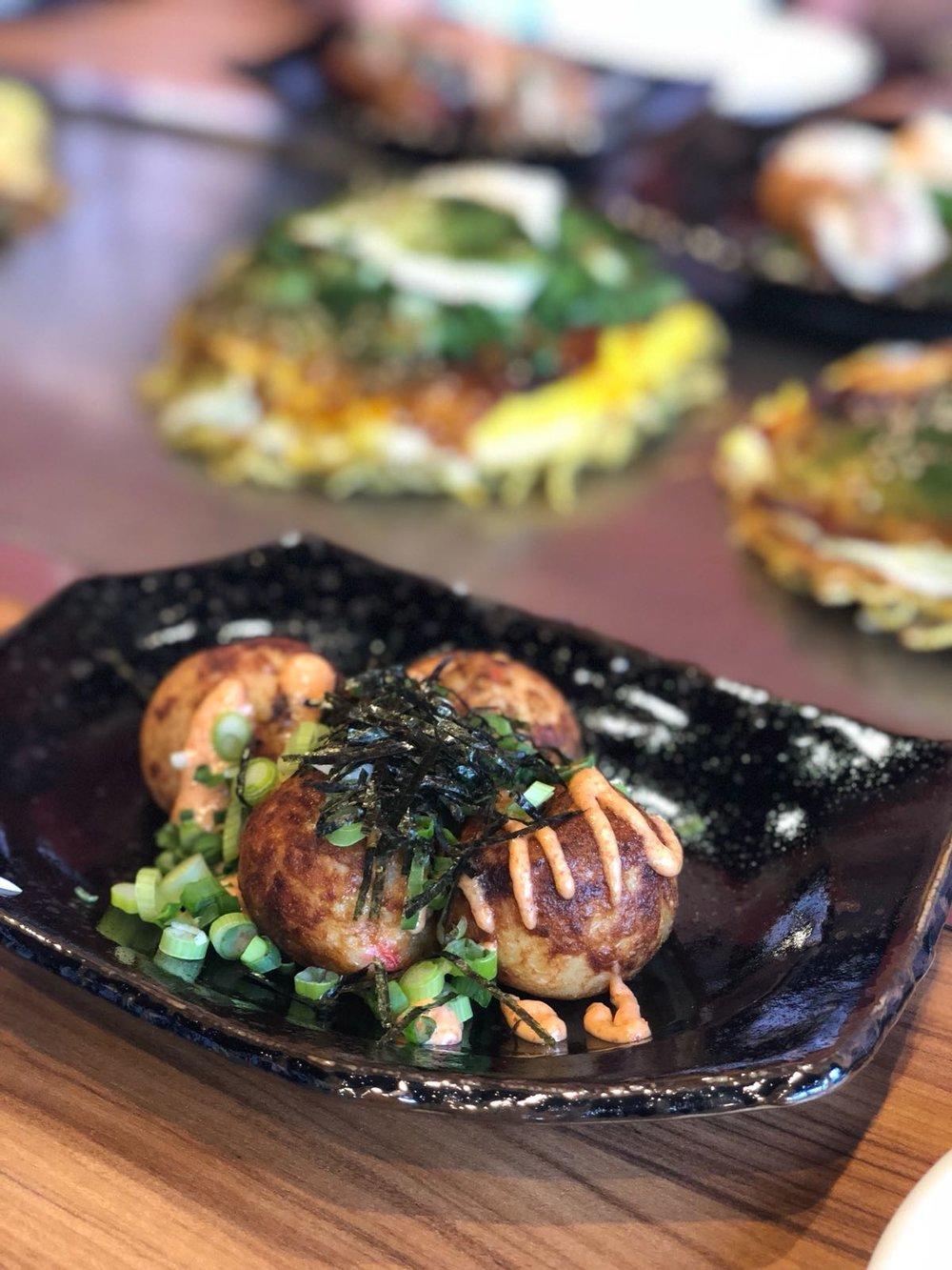 The original takoyaki from Takotaki Tanota.