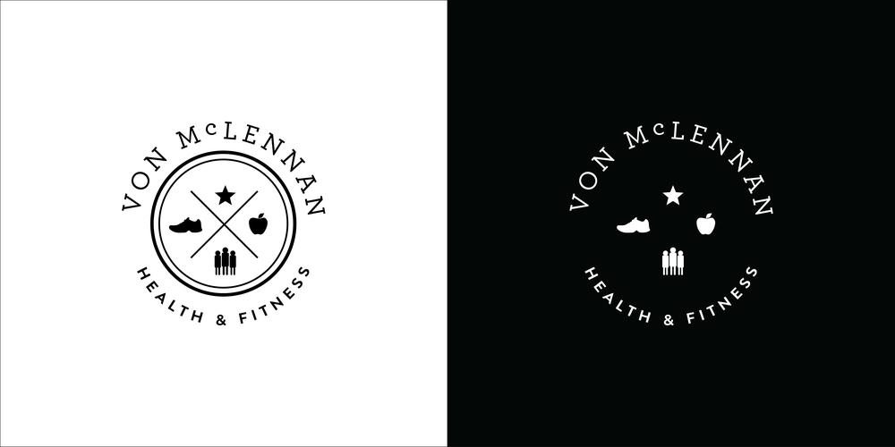 logo black white von mclennan georgie mckenzie graphic design