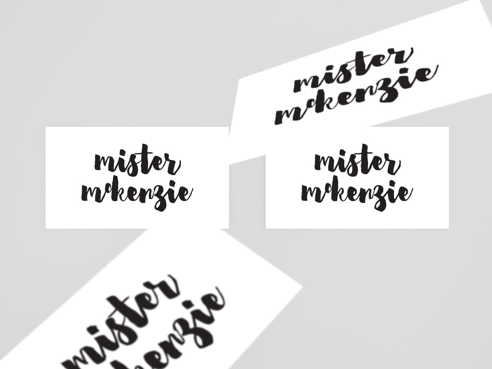 Georgie McKenzie Graphic Design | Mister McKenzie Jewellery | Branding | Business Cards