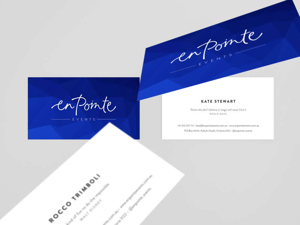 Georgie McKenzie Graphic Design | En Pointe Events