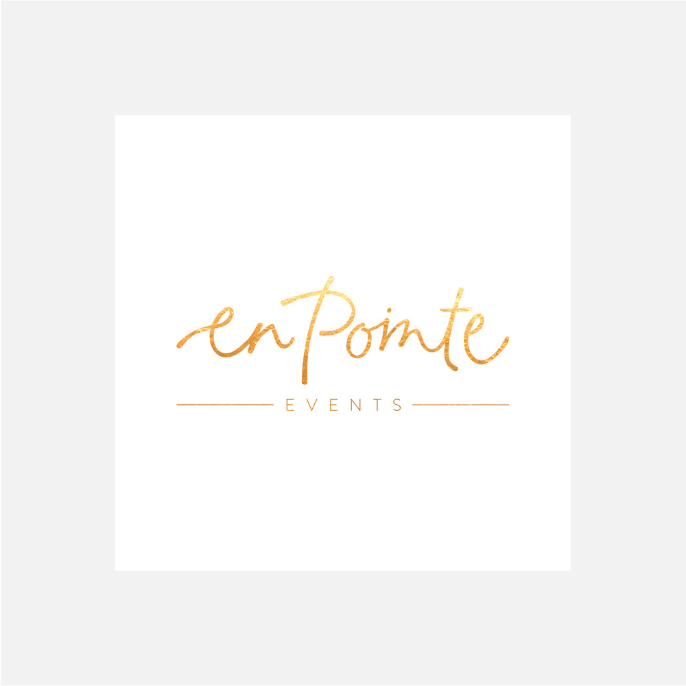 En Pointe Events | Blog | Georgie McKenzie Graphic Design Branding Logo