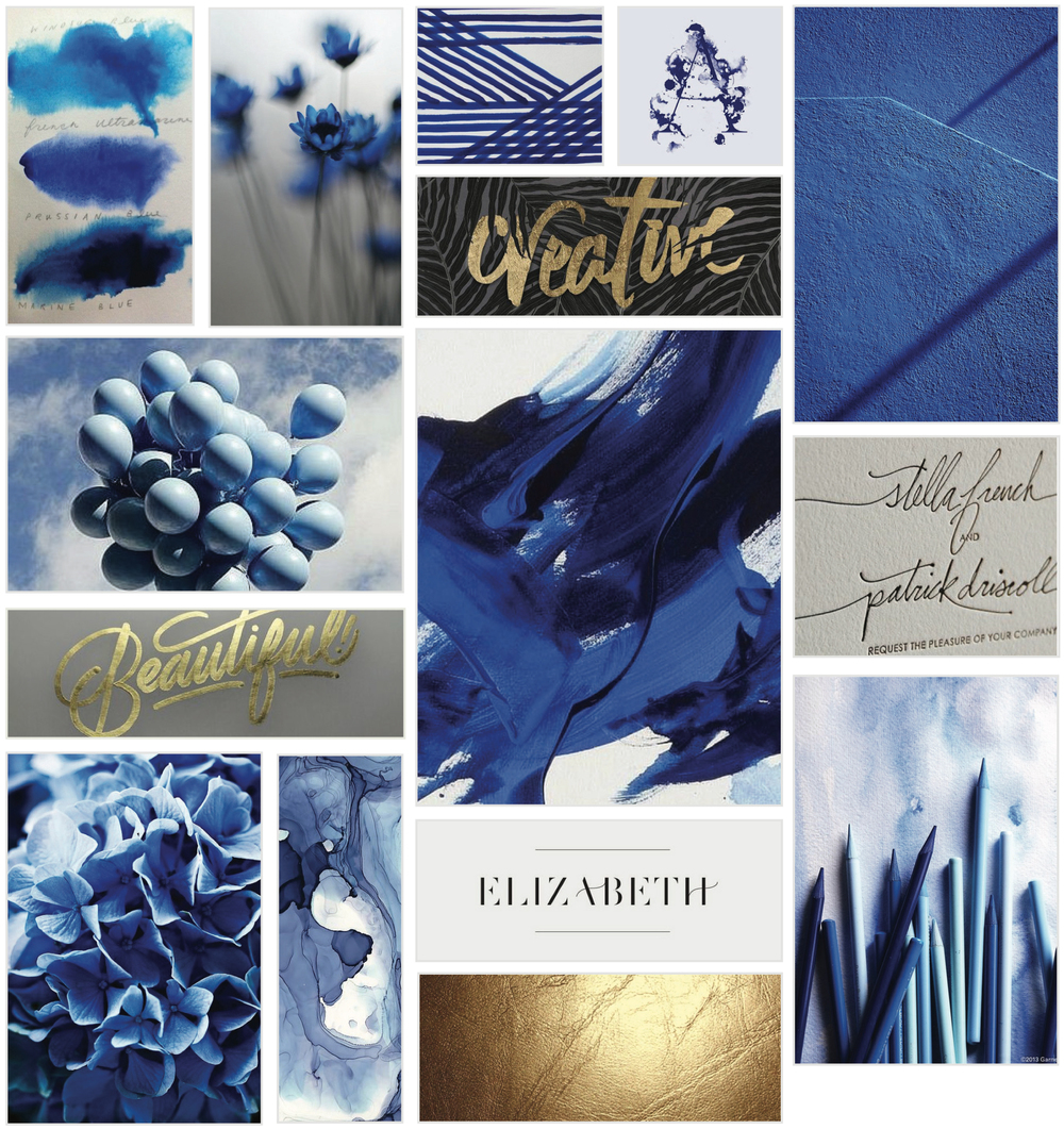 En Pointe Mood Board Branding Events | Georgie McKenzie Graphic Design