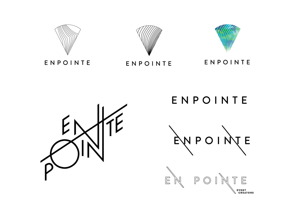 Logo Development En Pointe Events | Georgie McKenzie Graphic Design